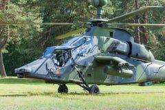 欧直老虎有双发动机的攻击用直升机 库存照片