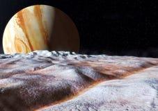 欧罗巴木星月亮 皇族释放例证