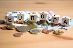 欧罗巴-欧洲的德语 免版税库存图片