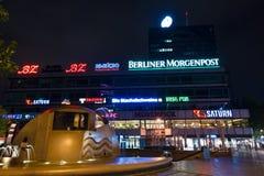 欧罗巴中心是在Breitscheidplatz的一个大厦区 图库摄影