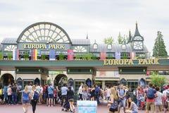 欧罗巴公园入口铁锈的,德国 免版税库存照片