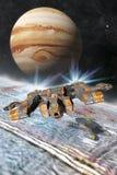 欧罗巴木星月亮基地 向量例证
