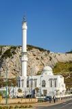 欧罗巴点的易卜拉欣Al易卜拉欣清真寺在直布罗陀 免版税库存照片