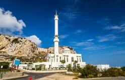 欧罗巴点的清真寺在直布罗陀 库存照片