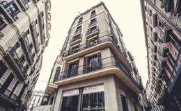 欧罗巴, Barselona,西班牙 老大厦在巴塞罗那 库存照片