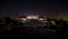 欧罗巴, Barselona,西班牙 老大厦在巴塞罗那 库存图片