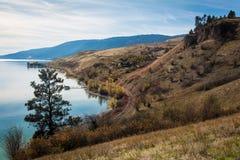 欧肯纳根湖基隆拿不列颠哥伦比亚省加拿大 免版税库存照片