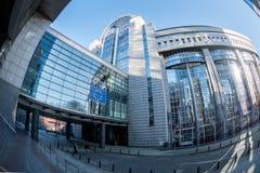 欧议会半圆形大厦 图库摄影
