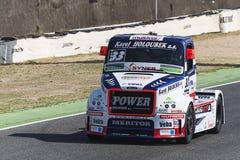 2014欧洲人卡车赛跑的冠军 免版税图库摄影