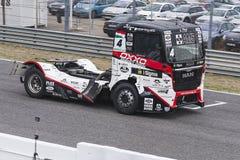 2014欧洲人卡车赛跑的冠军 免版税库存照片
