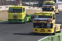 2014欧洲人卡车赛跑的冠军 库存照片