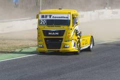 2014欧洲人卡车赛跑的冠军 免版税库存图片