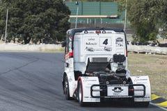 2014欧洲人卡车赛跑的冠军 库存图片