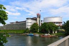 欧洲人权法院的大厦 免版税库存照片