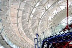 欧洲人权法院,天花板细节  图库摄影