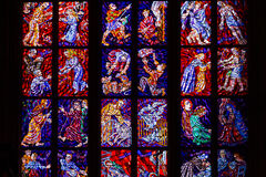 欧洲人Stainglass窗口 免版税库存照片