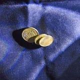欧洲分硬币 库存图片