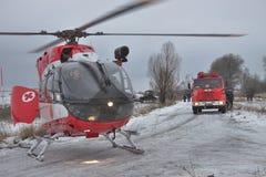欧洲直升机公司EC145抢救直升机 免版税库存图片