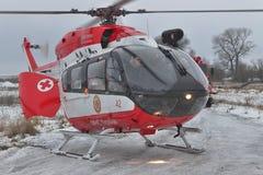 欧洲直升机公司EC145抢救直升机 图库摄影