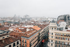 欧洲历史的市中心的地平线 免版税库存图片