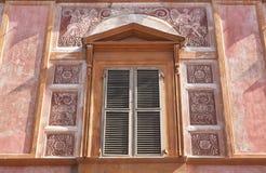 欧洲古色古香的古老建筑细节  库存图片