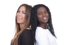 欧洲和非洲妇女紧接 免版税图库摄影