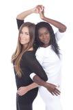 欧洲和非洲妇女紧接 免版税库存图片