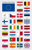 欧洲国家下垂汇集 库存图片
