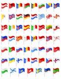 欧洲国家传染媒介例证旗子  图库摄影