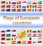 欧洲国家地区标志 库存图片