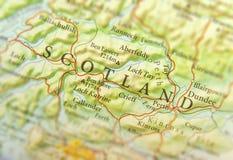 欧洲国家苏格兰地理地图有重要城市的 图库摄影
