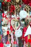 欧洲圣诞节市场摊位 免版税图库摄影