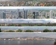 欧洲城市全景 免版税图库摄影