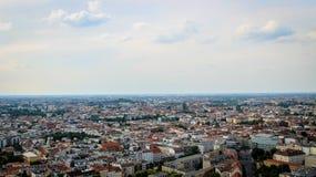 欧洲城市全景 免版税库存图片