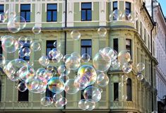 欧洲城市肥皂泡  库存图片