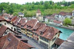 欧洲城镇伯尔尼 免版税库存照片