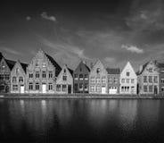 欧洲城镇 布鲁日布鲁基,比利时 免版税库存照片