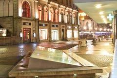 欧洲夜塔林老城市 免版税库存图片