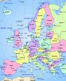 欧洲大陆映射  免版税图库摄影
