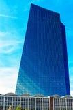 欧洲央行在法兰克福,德国总部设,新的主要Eurotower 免版税库存照片
