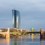 欧洲央行的新的位子在法兰克福,德国 图库摄影