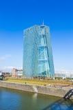 欧洲央行的新的位子在法兰克福 免版税库存照片