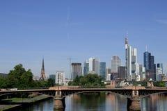 欧洲央行的新的位子在法兰克福 库存图片