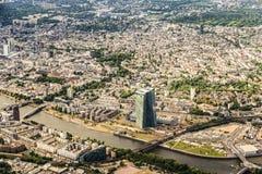 欧洲央行的新的总部天线  免版税库存照片