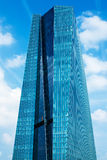 欧洲央行主要Eurotower在法兰克福,德国 免版税库存照片