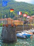 欧洲小船港口 免版税库存照片