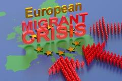 欧洲移居危机 库存照片
