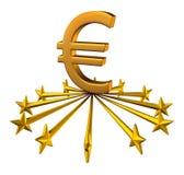欧洲货币支持 免版税库存图片