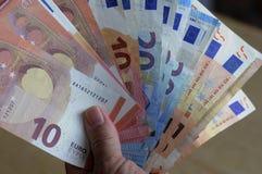 欧洲货币笔记 免版税图库摄影