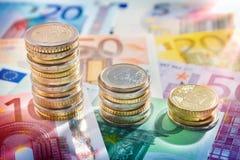 欧洲货币-增量的概念图  图库摄影